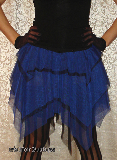 Lip Service Black n Blue Ballerina Plie Party Lolita Skirt