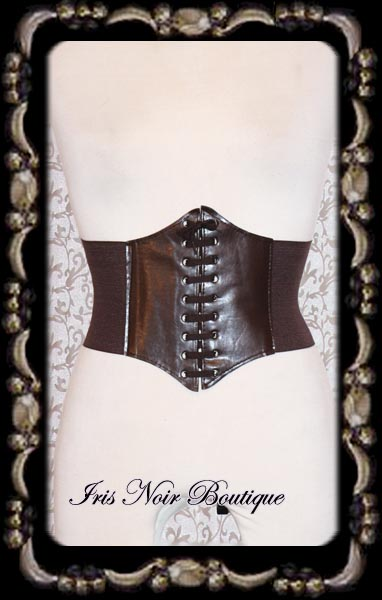 Gothic Steampunk Brown or Black Corset Cincher Belt