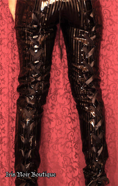 Lip Service Black Diamond Dynasty Goth Vinyl Lace-Up Pants