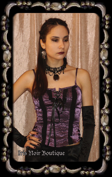 Lip Service Exit to Eden Steampunk Victorian Cami Top