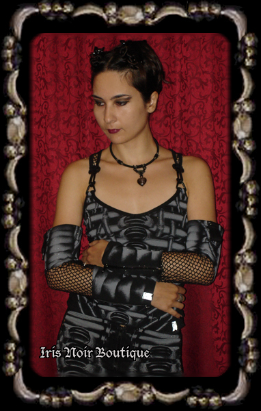 {Gloves} Lip Service Erotomechanics Unisex Cyber Goth Arm Warmer