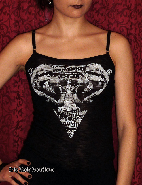 Lip Service Fashion Victim Punk Goth 80s Screen Tank