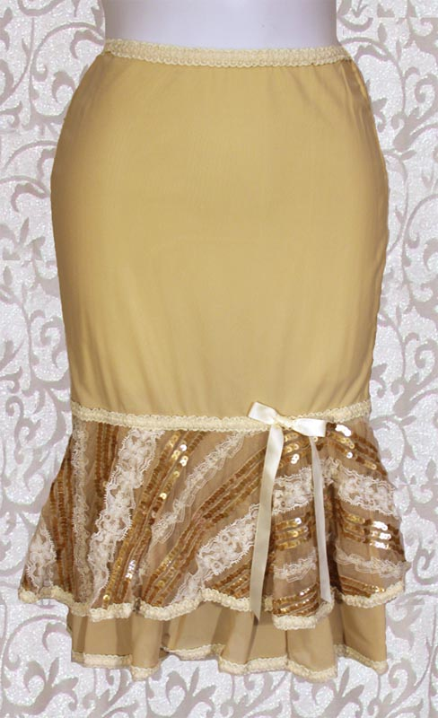 {Used} Lip Service Femmes of Folly Nude Sequined PinUp Skirt
