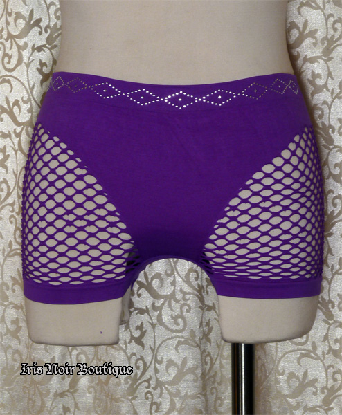 Fishnet Sides Cyber Goth Industrial Punk Shorts Hot Pants