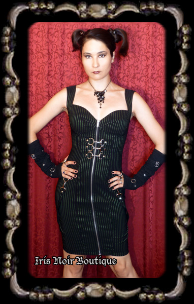 Lip Service Gangsta Pranksta Cyber Goth Buckle Dress