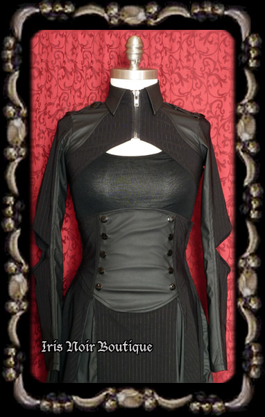 Lip Service Gangsta Gothic Steampunk Collared Shrug Jacket