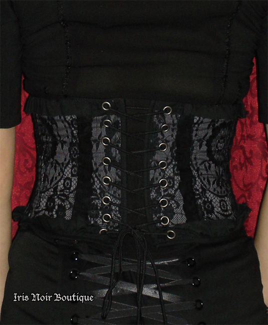 Lip Service Blacklist Lace and Ruffles Victorian Lolita Cincher