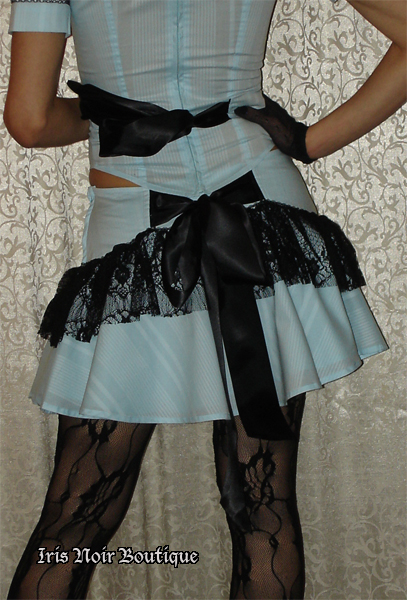 Lip Service Through the Looking Glass Steampunk Mini Skirt
