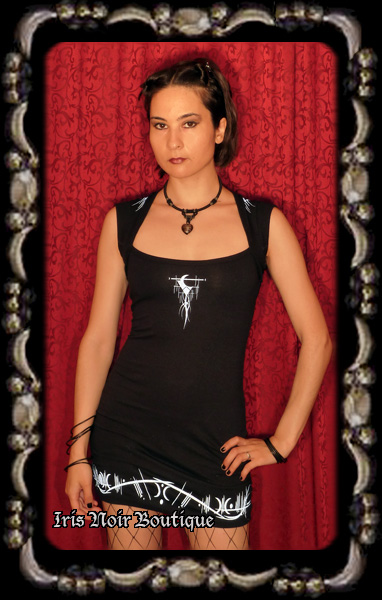 Lip Service Millennium Moon Cyber Goth Tribal Mini Dress
