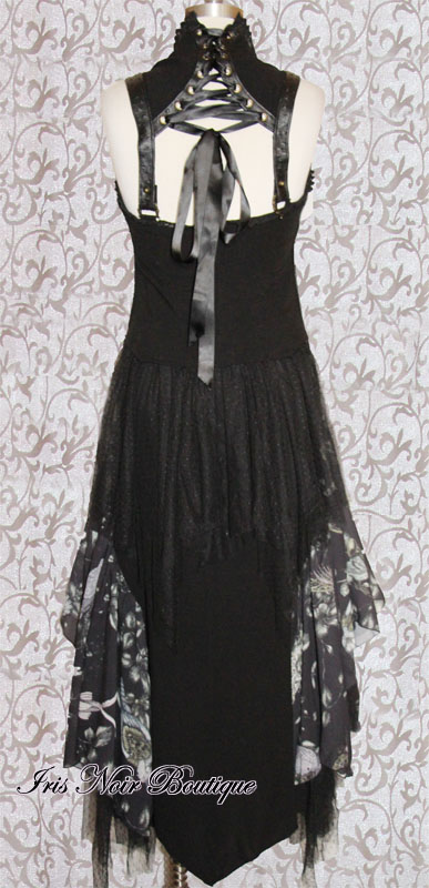 Gothic Victorian Steampunk Mecanique Menagerie Black Gown