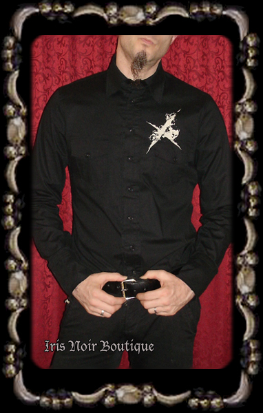 {Mens} Lip Service History of Nothing Goth Steampunk Shirt