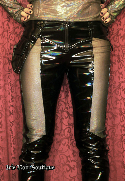 Lip Service Oil Spill Cyber Goth Industrial Vinyl Pants