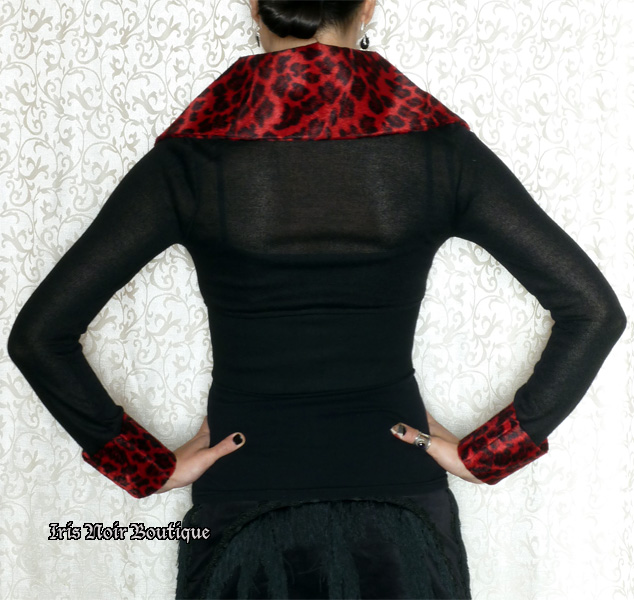 Lip Service Pin Me Up Gothic Lolita Retro Cropped Sweater
