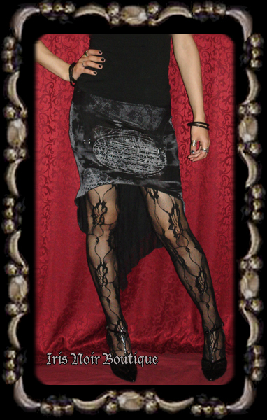 Lip Service RIP Forever Lost Gothic Graveyard Print Skirt