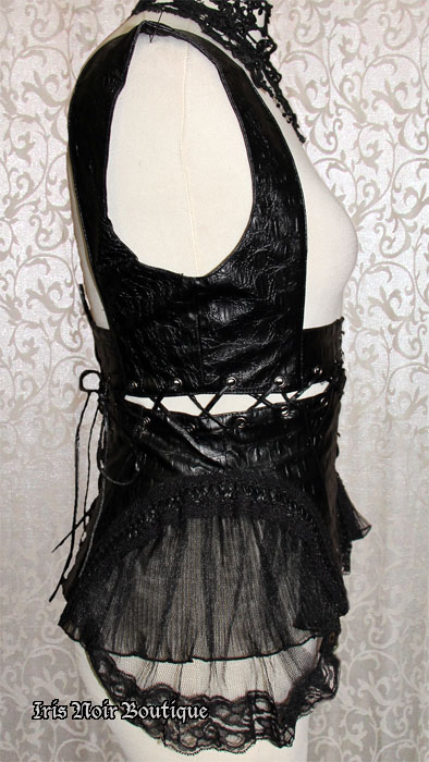 Goth Steampunk Black or Brown Transformer Corset Harness Top