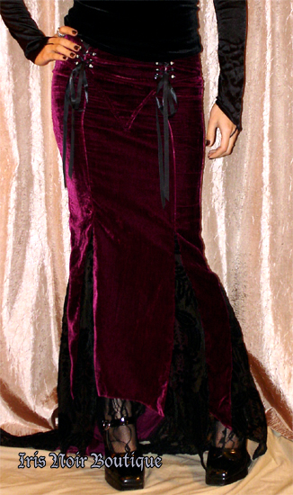 Lip Service Requiem For the Dead Victorian Velvet Long Skirt