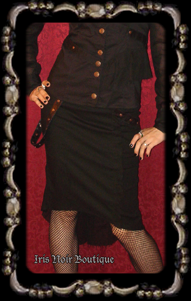Lip Service Steam Machine Steampunk Pencil Skirt