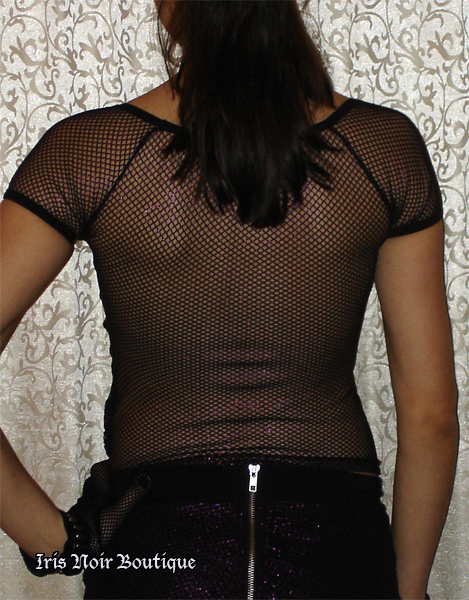 Lip Service Star F**ker Fishnet Goth Glam Short Sleeve Top