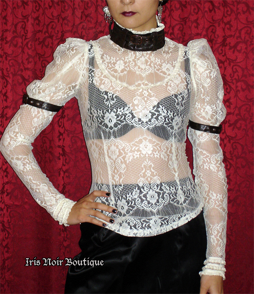 Lip Service Step in Time Ivory Lace Steampunk Blouse