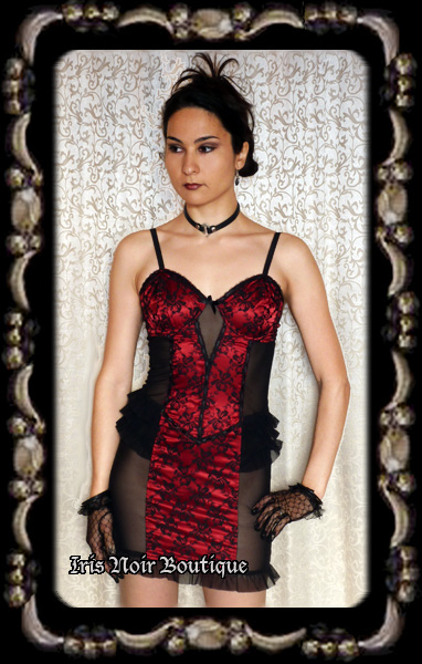 Lip Service Vaudeville Vamps Goth Steampunk Burlesque Dress
