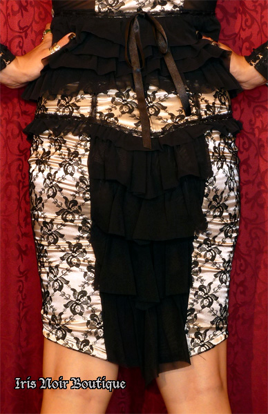 Lip Service Vaudeville Vamps Goth Victorian Lace Ruffle Skirt