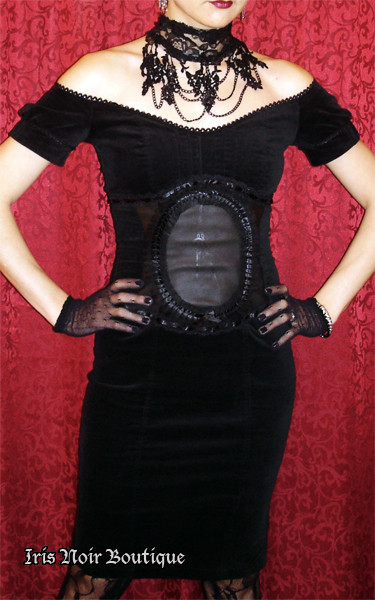 Lip Service Lost Velvet Empire Steampunk Cameo Dress