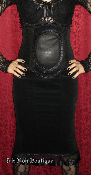 Lip Service Lost Velvet Empire Victorian Steampunk Skirt