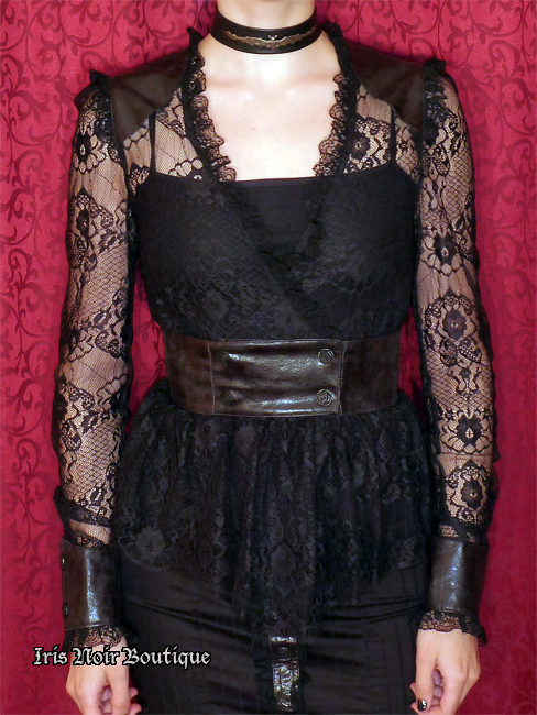 Lip Service War of the Roses Victorian Steampunk Lace Top