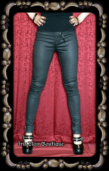 Lip Service Widow Punk Goth Skinny Zipper Jeans