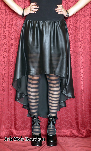 Lip Service Widow Gothic Lolita Chiffon Asymmetrical Skirt