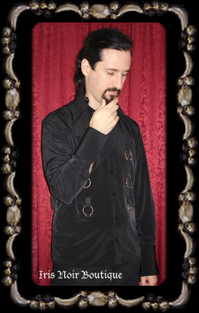 {Mens} Heavy Red The Master's Gothic Industrial Ring Shirt