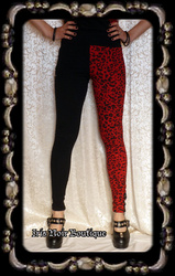 Lip Service Batz & Bones Burlesque Punk Jester Leggings
