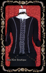 {Used} Lip Service Corset Tees Lace-Up Back Punk Goth Top XS