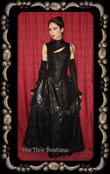 Lip Service Dutchess de Sade Victorian Mourning Bustle Skirt