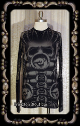Lip Service Erotomechanics Cyber Goth Mens Unisex Top