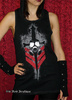 Lip Service Fallout Unisex Cyber Goth Gas Mask Hooded Tank Top