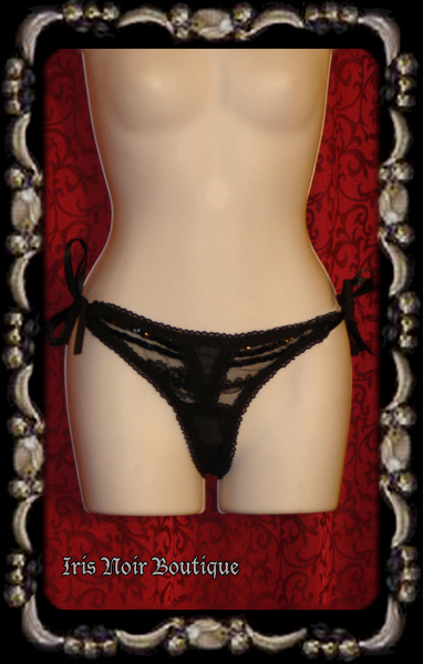 Lip Service Femmes of Folly Tie-Up Sides Goth Victorian Thong