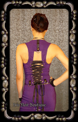 Lip Service Gangsta Pranksta Goth Punk Cyber Lace-Up Bodice