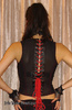 Lip Service Astro Vamps Red Vain Cyber Goth Bodice Top
