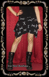 Lip Service Dem Bones Handkerchief Hem Punk Goth Mini Skirt