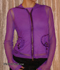 Purple Fishnet D-Ring Punk Goth Industrial Hoodie Top
