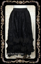 Gothic Lolita Aristocrat Ruffles & Lace Gathered Bustle Skirt