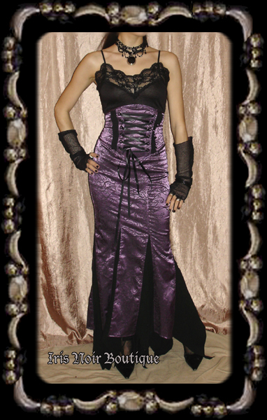 Lip Service Exit to Eden Steampunk Victorian High Waist Skirt