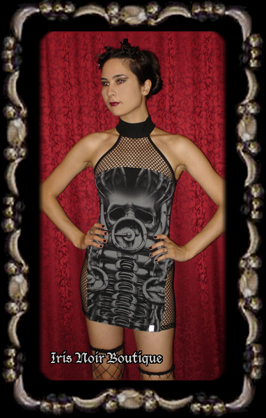 Lip Service Erotomechanics Cyber Goth Mini Dress