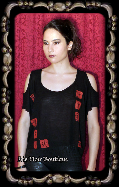 Lip Service Fashion Victim Japanese Open Shoulder Goth Top