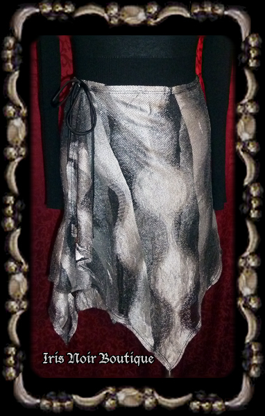 {Used} Lip Service Rare Hour or Darkness Art Deco 1930s Skirt S