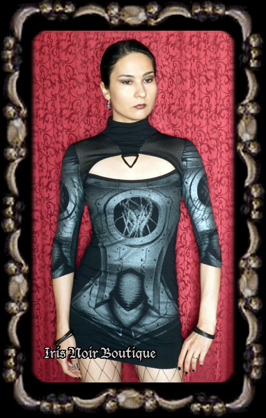 Lip Service Hyper Intelligence Cyber Goth Industrial Dress