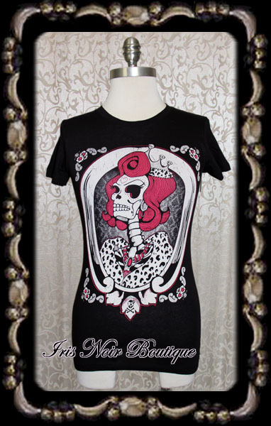 Gothic Lolita Punk Black or Pink God Save the Queen Tee
