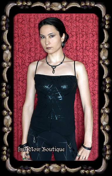 Lip Service Widow Cyber Goth Industrial Garter Tank Top